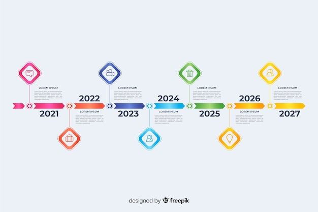 Timeline professional infographic