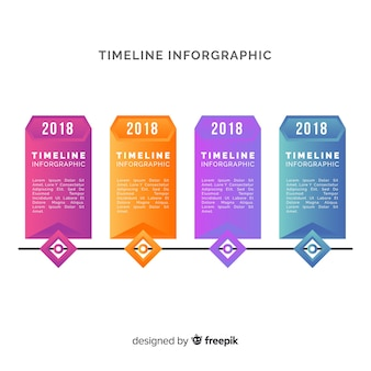 Timeline set of infographic template