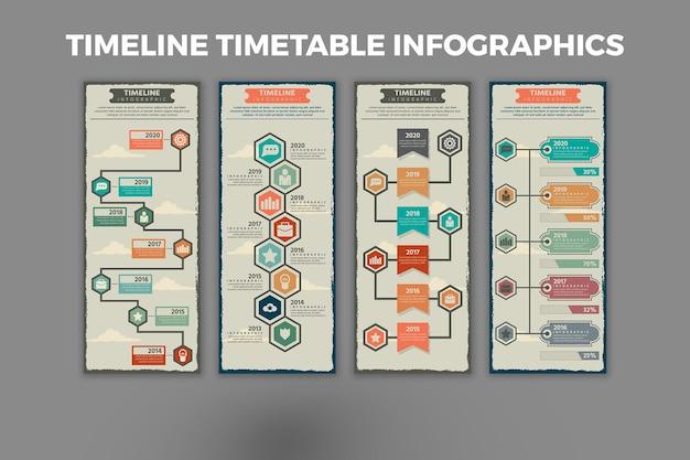 タイムラインテーブルのインフォグラフィックテンプレート
