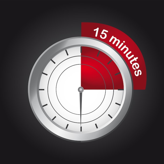 15 minute mark on clock Icons | Free Download