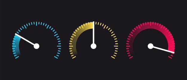 Набор иконок таймера. символы секундомера. набор простых таймеров.