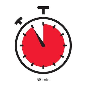 Таймер минут символ цвет линии стиль изолированные на белом фоне часы секундомер время приготовления