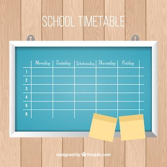 タイムテーブル、黒板、ポスト
