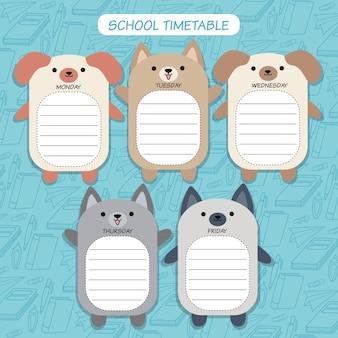 Timetable dog