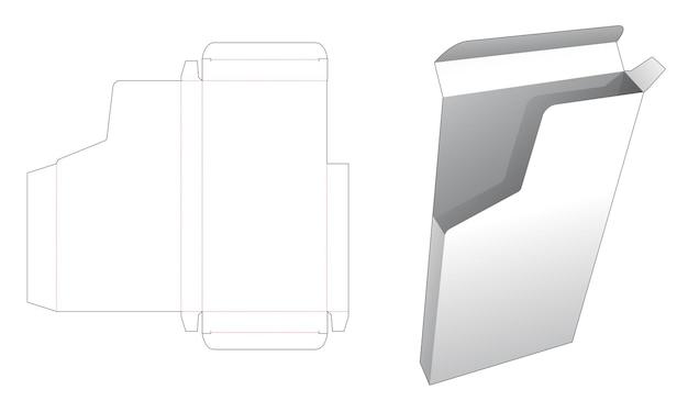 オープンエアディスプレイダイカットテンプレート付きブリキ箱