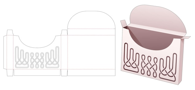 Жестяная коробка с трафаретной высечкой