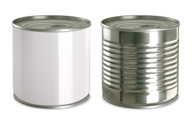 Tin can mock up.  realistic  icon set