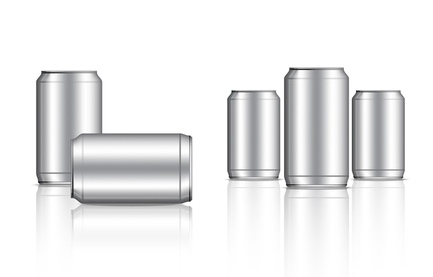 Tin metallic can and bottle beverage packaging
