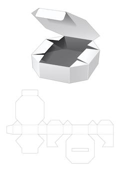 주석 팔각형 상자 다이 컷 템플릿