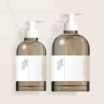 Tinted boston pump bottle packaging  for haircare / skincare / healthcare / skincare  products