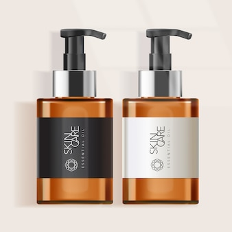 Tinted bottle for skincare or soap