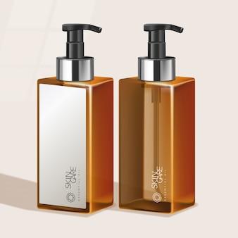 Тонированная бутылка с высоким насосом для ухода за волосами / по уходу за кожей / для здоровья / туалетные принадлежности