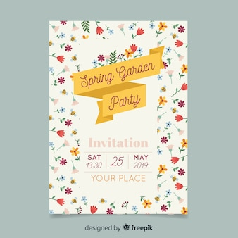 Tiny flowers spring party poster