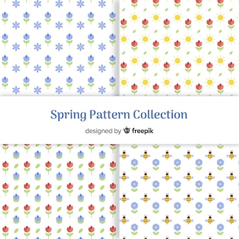 Tiny flowers spring pattern collection