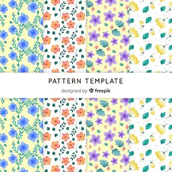 작은 꽃 봄 패턴