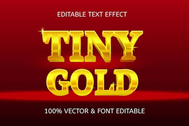 Крошечный золотой редактируемый текстовый эффект