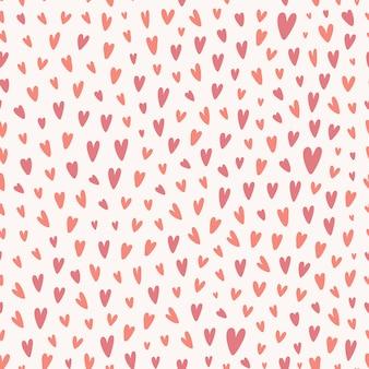 Tiny heart shape seamless pattern