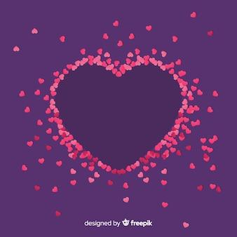 Tiny hearts background