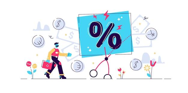 Небольшое снижение цены в процентах Premium векторы