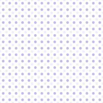 白い背景のシームレスなパターンに小さな紫色のドットハーフドロップリピート