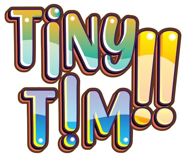 Piccolo logo della parola tim su sfondo bianco