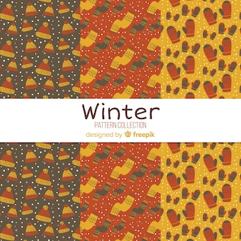 Tiny winter elements pattern collection