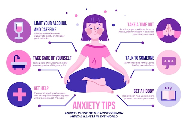 Tips for anxiety infographic