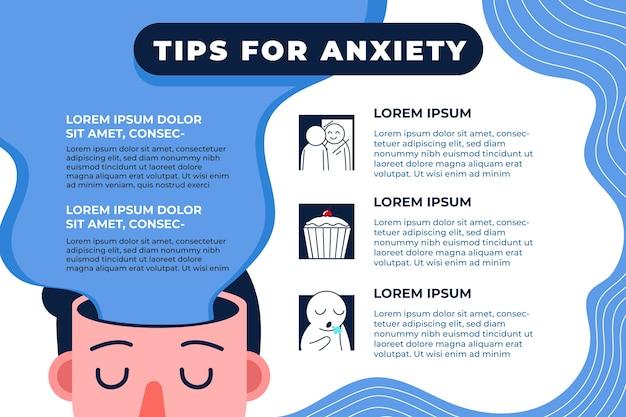 Советы по тревоге инфографики