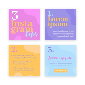 Tips instagram post pack