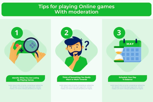 Tips for playing online games with moderation template