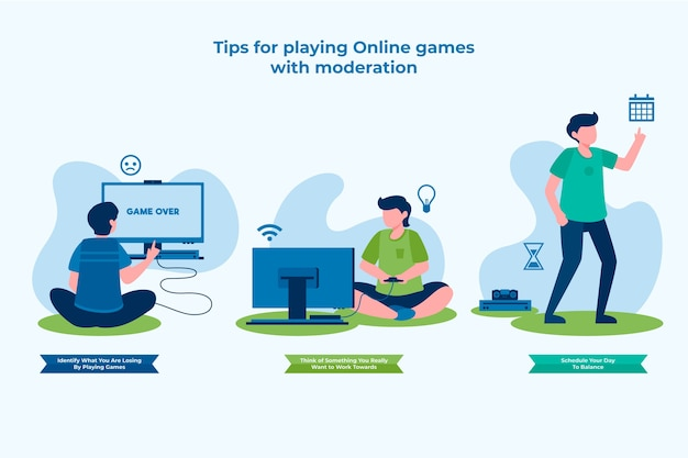 Tips for playing online games with moderation