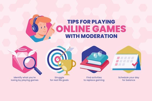 Suggerimenti per giocare ai giochi online con moderazione