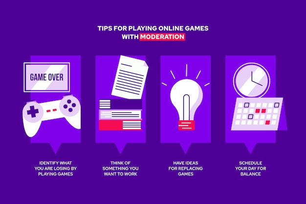 Tips for playing video games with moderation