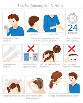 Tips and precautions before use hair dye for coloring own hair at home