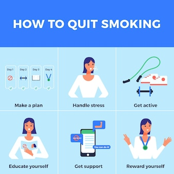Tips for quitting smoking infographic