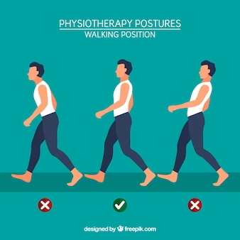 Tips for walking with the correct posture