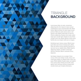 Геометрический синий фон с tirangles