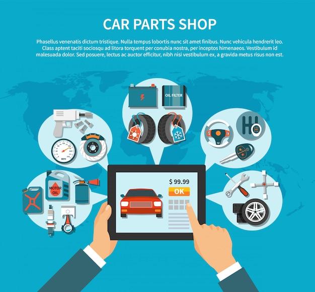 Tire service template