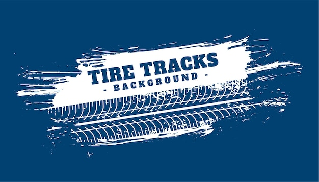 Tire track abstract blue background