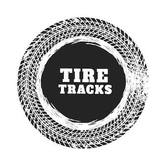 Tire track circle background design
