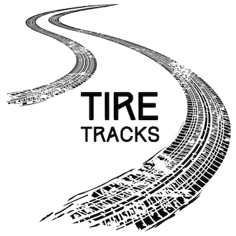 Tire tracks abstract illustration.