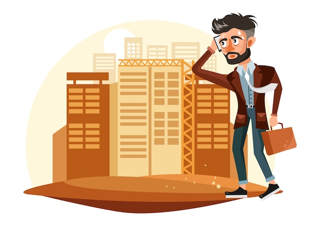 Tired businessman illustration