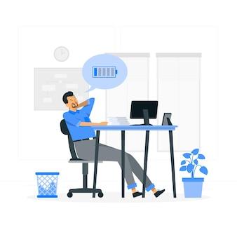 Illustrazione di concetto di stanchezza Vettore gratuito