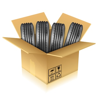 Tires in a box
