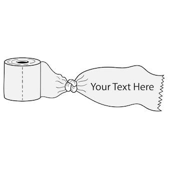 Дизайн вектора текста пространства баннера ткани