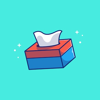 Tissue box   icon illustration. healthcare and medical icon concept isolated