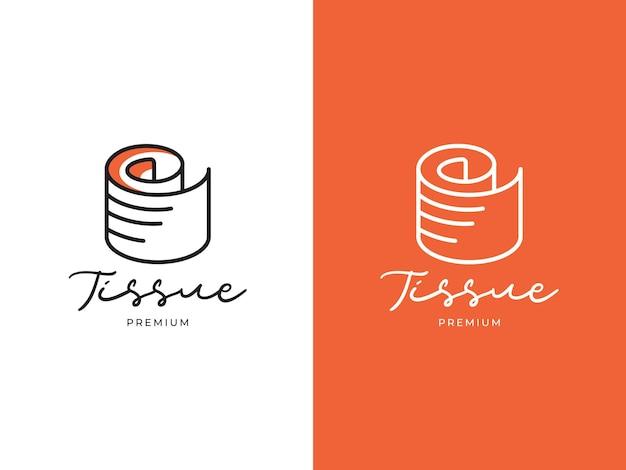 Tissue premium logo design concept