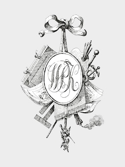 Title vignette with monogram