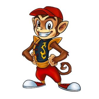 Tity monkey mascot design vector