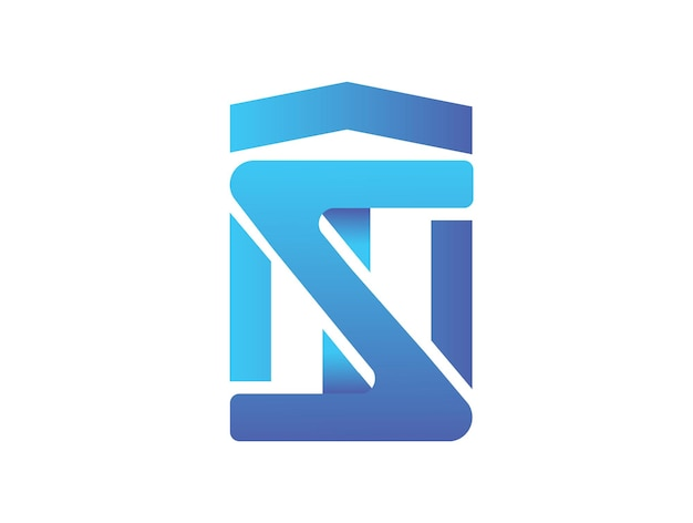 Tnz 문자 조합 현대적인 로고 디자인